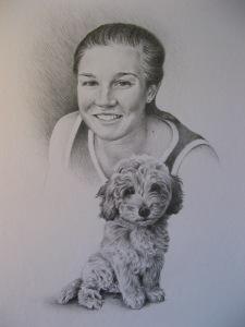 portrait in graphite pencils